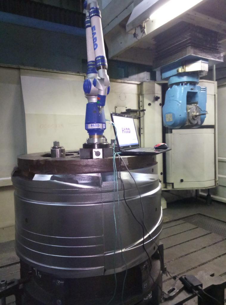 Измерение клиновой сборки на кординатно-измерительной машине после механической обработки на станке ЧПУ